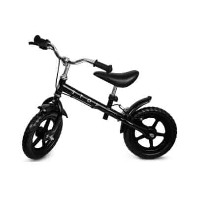 running Bike - much like a regular bike but without pedals. The child kicks her way and practicing on keeping your balance when the father was.