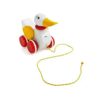 Gift to small kids Brio duck's a classic, that is loved by many children.