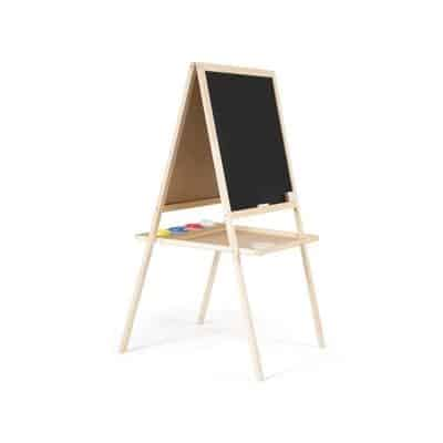 An easel that stands on the floor