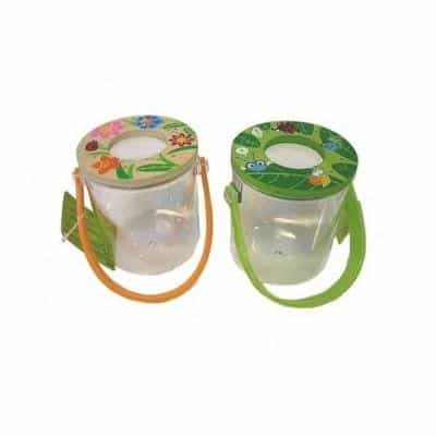 Insect jar with a magnifying glass is a very exciting way to study insects up close.