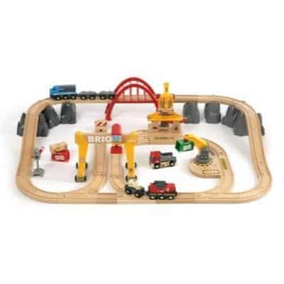 Wooden railways are very popular among 6-year-olds. It is good to choose a train set with many funny parts.