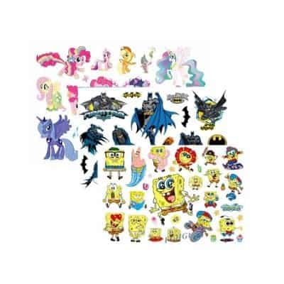 Packages with many My Little Pony Tattoos or something else that the kid likes